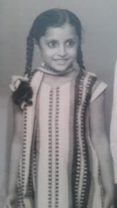 Nutan as a small child.