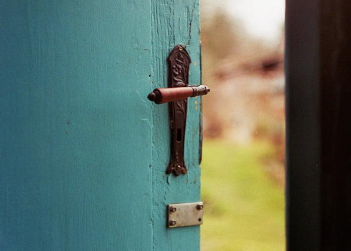 An open door signifies welcomes and new beginnings.