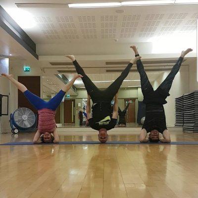 Nutan and Students in her yoga studio