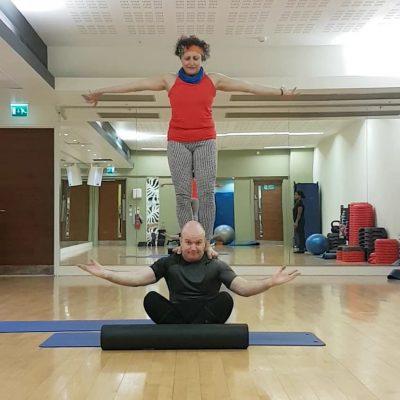 Nutan at yoga studio